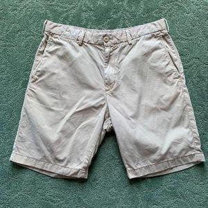 Men's Uniqlo Cotton Khaki Flat-front shorts - M